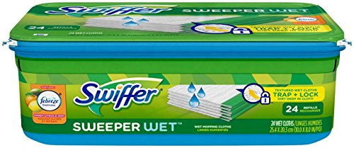 Swiffer Sweeper Wet Mopping Cloths, Sweet Citrus & Zest, 24 Count