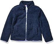 Amazon Essentials Girl's Polar Fleece Lined Sherpa Full-Zip Ja