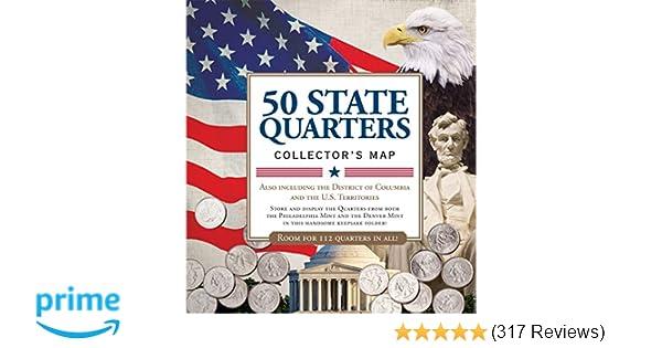 Amazon.com: 50 State Commemorative Quarters Collector's Map ... on