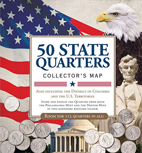 50 State Commemorative Quarters Collector's Map - Includes Both Mints