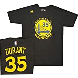 Golden State Warriors Kevin Durant Adidas Black T Shirt
