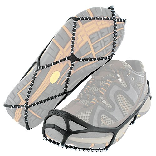 Yaktrax Walker Traction Cleats for Snow and Ice, Black, Medium by YakTrax