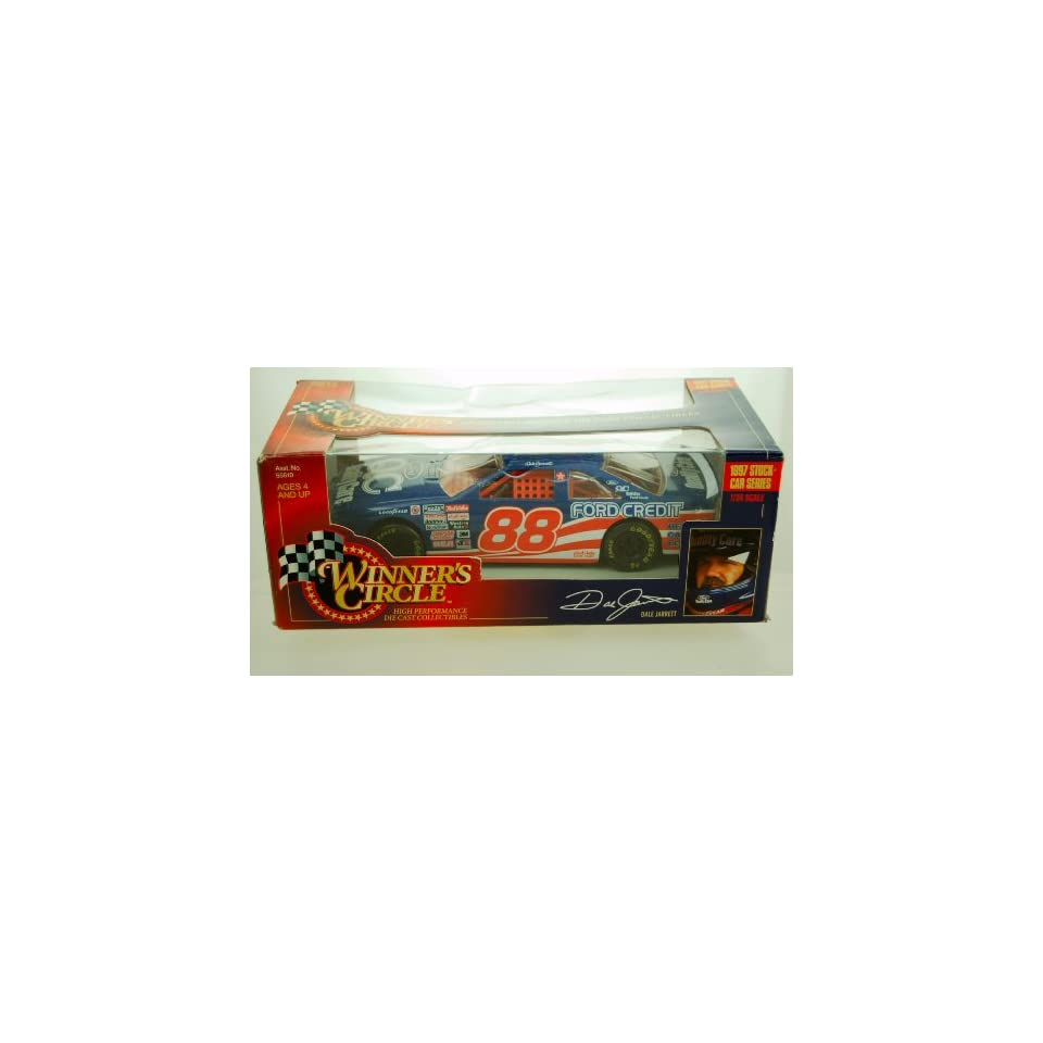 1997   Kenner   NASCAR   Winners Circle   Stock Car Series   Dale Jarrett #88   124 Scale Die Cast   Ford Thunderbird   Limited Edition   Collectible