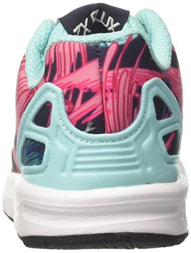 adidas ZX Flux el I, Zapatillas Unisex Bebé Multicolor (Energy Aqua F17/energy Aqua F17/ftwr White)