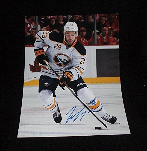 Zemgus Girgensions Signed Buffalo Sabres 11x14 Photo - Autographed NHL Photos (Nhl Buffalo Signed Sabres Photo)