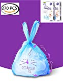 Easy-Tie Diaper Sacks Dispenser Antibacterial Scented Baby Diaper Disposable Bags for Travel Pack (Blue,270pcs(3 set))