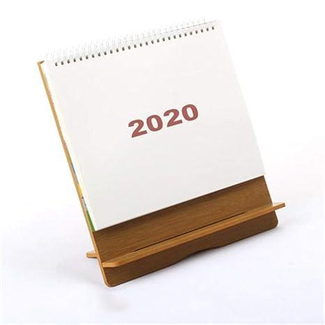 WPCBAA 2020 Calendario de Escritorio Sencilla Mesa de Madera ...
