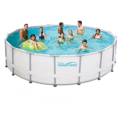 Pool Round Frame (Summer Waves Elite Metal Frame Swimming Pool Package, 15-ft Round x 48-in Deep)