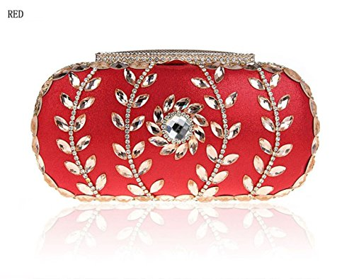 Womens Bag Bags Handbags Wedding Clutch Evening Bags Red Diamond Bridal Bags r4zrwq