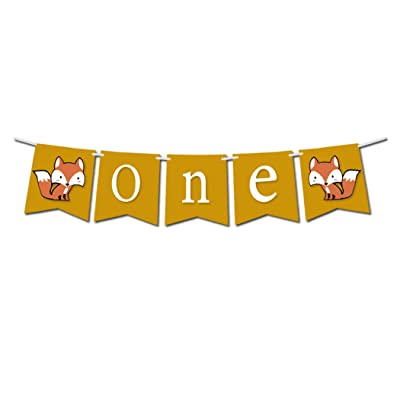 Woodland Creature Fox Banner ONE for 1st First Birthday: Toys & Games