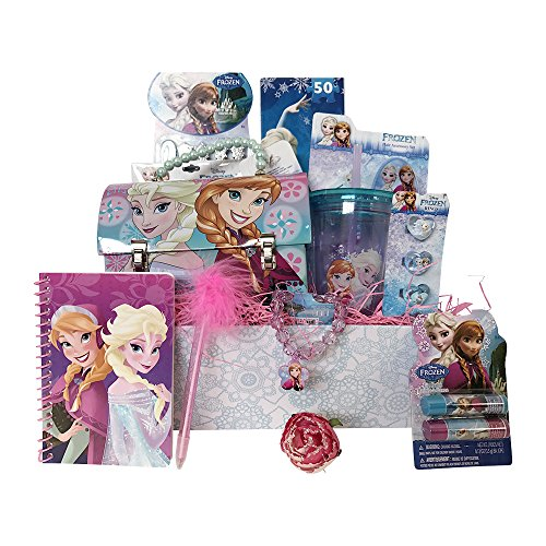 Disney Frozen Christmas Gift Basket for Girls Perfect Birthday Gift Basket for Girls Special Get Well Gift Baskets for Girls 4 to 8 Years Old (Frozen Gift Basket)