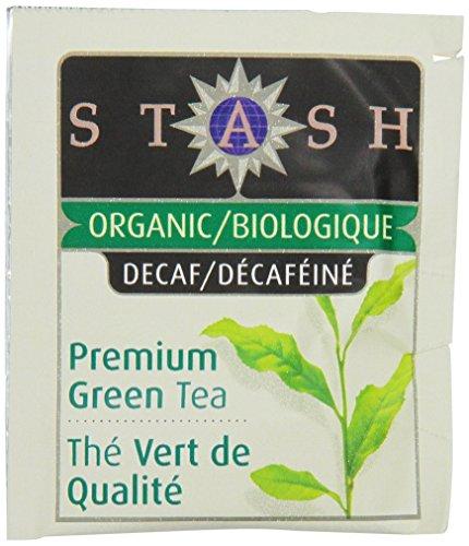 Stash thé vert bio Sachets de thé en feuilles, décaféiné Premium, 100 comte