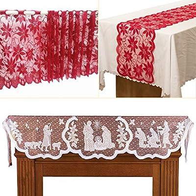 JEEZAO Tapetes para la Mesa de Navidad Decoraciones,Camino de Mesa ...