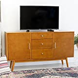 Walker Edison W60CMCAC 60'' Mid-Century Modern Wood TV Console in