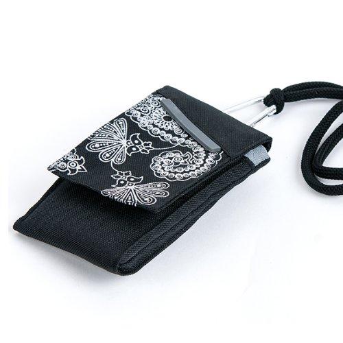 NFE² Jugendliches Leinen Etui schwarz - grau für Apple iPhone 3GS
