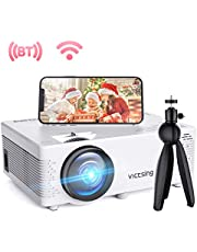 "$94 » VicTsing Mini WiFi Projector-4200L Wireless Bluetooth Projector with Tripod, 1080P 170"" Display Supported, Compatible with TV Stick, PS4, DVD, Portable Protector for Home Entertainment【2020 New Tech】"