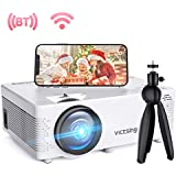 "VicTsing Mini WiFi Projector-4200L Wireless Bluetooth Projector with Tripod, 1080P 170"" Display Supported, Compatible with TV Stick, PS4, DVD, Portable Protector for Home Entertainment【2020 New Tech】"