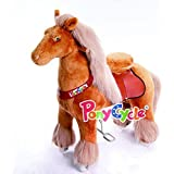 Smart Gear Pony Cycle Royal Horse Light Brown Riding Toy: 2 Sizes:  World's First Simulated Riding Toy for kids Age 4-9 Years Ponycycle ride-on medium