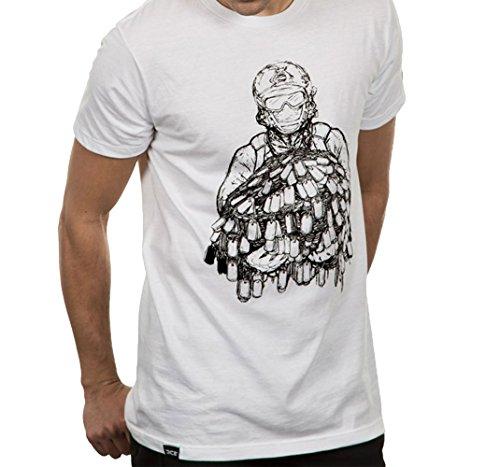 Price comparison product image Battlefield 4 Dog Pile Adult Premium T-Shirt (Large,  White)
