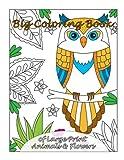 Big Coloring Book of Large Print Animals