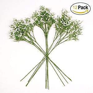 Homcomoda Artificial Flowers Babies Breath Flowers Fake Gypsophila Plants Bouquets for Wedding Home DIY Decoration 97