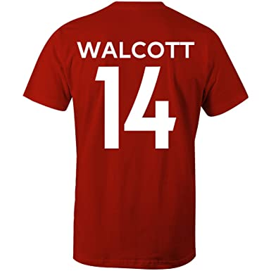 Sporting Empire Theo Walcott 14 Arsenal Style Player T-Shirt Red ...