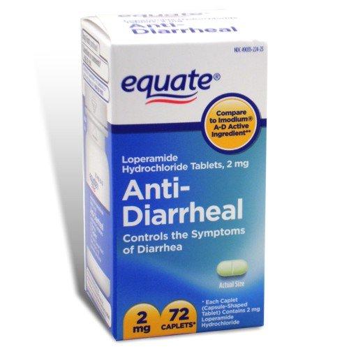 Equate - Anti-diarrhéique, 72 Caplets (Comparez avec Imodium AD)