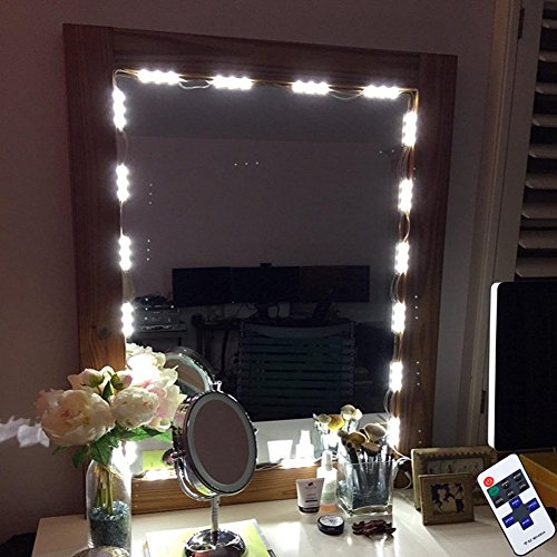 Vanity makeup lights kit 10ft 60 led hollywood style mirror diy kits vanity makeup lights kit 10ft 60 led hollywood style mirror led light diy light kits for bathroom cosmetic mirror decoration with dimmer controllermirror aloadofball Images