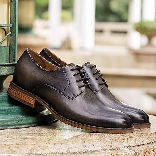 fatte Vintage Derby Black Black Size per Yao uomo mano Scarpe Color 41 a EU Scarpe 5UXgaU