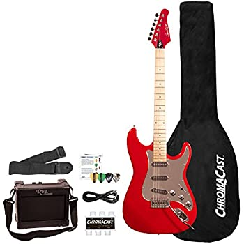 full size black electric guitar with amp case and accessories pack beginner starter. Black Bedroom Furniture Sets. Home Design Ideas