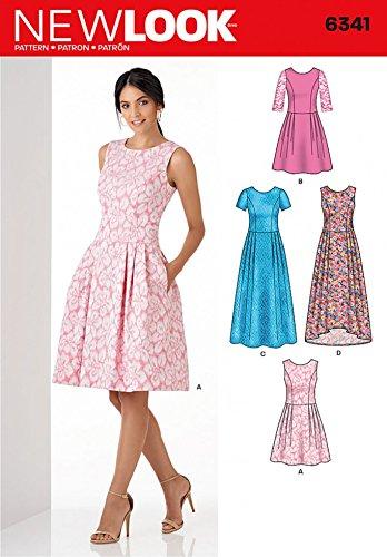 New Look Ladies Sewing Pattern 6341 Princess Seam Bodice Dresses