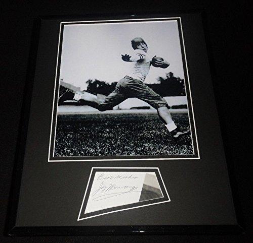 Jay Berwanger Signed Framed 11x14 Photo Display Heisman 1st NFL Draft Pick