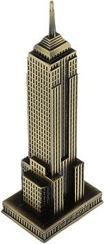 P Prettyia Modelo de Edificio Empire State de Nueva York de Metal ...