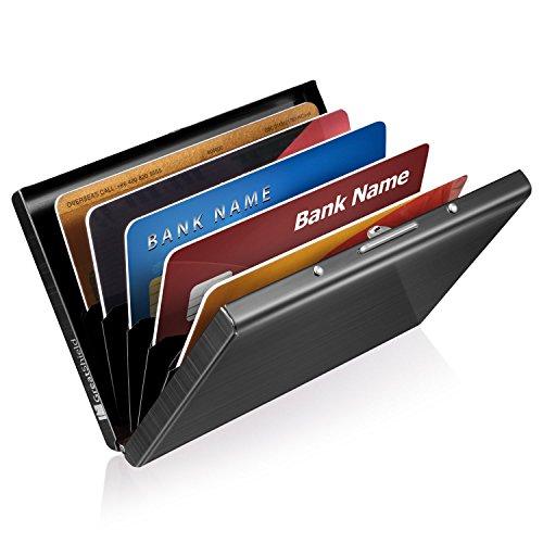 GreatShield RFID Blocking Wallet [6 Slots | Stainless Steel] Identity Safe Protection (Metal Lock Wallet)