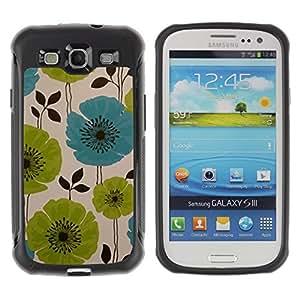 Suave TPU GEL Carcasa Funda Silicona Blando Estuche Caso de protección (para) Samsung Galaxy S3 III I9300 / CECELL Phone case / / Drawing Painting Green Blue Art /