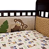 lambs and ivy baby bedding bumper - Lambs & Ivy Safari Express Bumper set