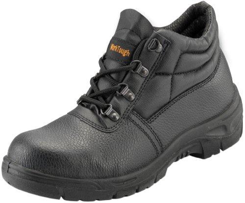 WorkTough 101SM14 Chaussure de sécurité avec semelle en acier Noir Taille 49