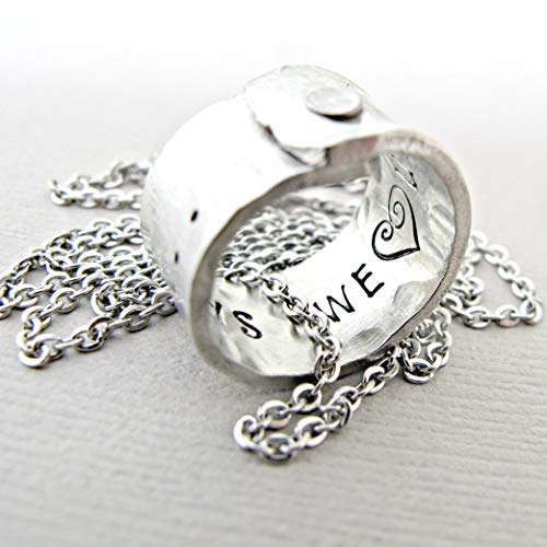 (Personalized Gifts, Mothers Necklace, Mom of Boys, Engraved Jewelry, Gift for her, Mother Day, silver Pendant)