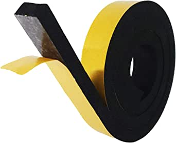 NTG-SOLUTION Afdichtingstape voor deuren, zelfklevende deurafdichting 25mm (B)x10mm(D) x 4m (L) rubberen afdichting,geluidsisolerende strips 2 stukken
