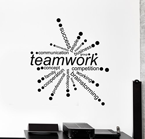 Large Vinyl Wall Decal Teamwork Words Office Decor Business Stickers (ig4342) Dark Blue by WallStickers4ever