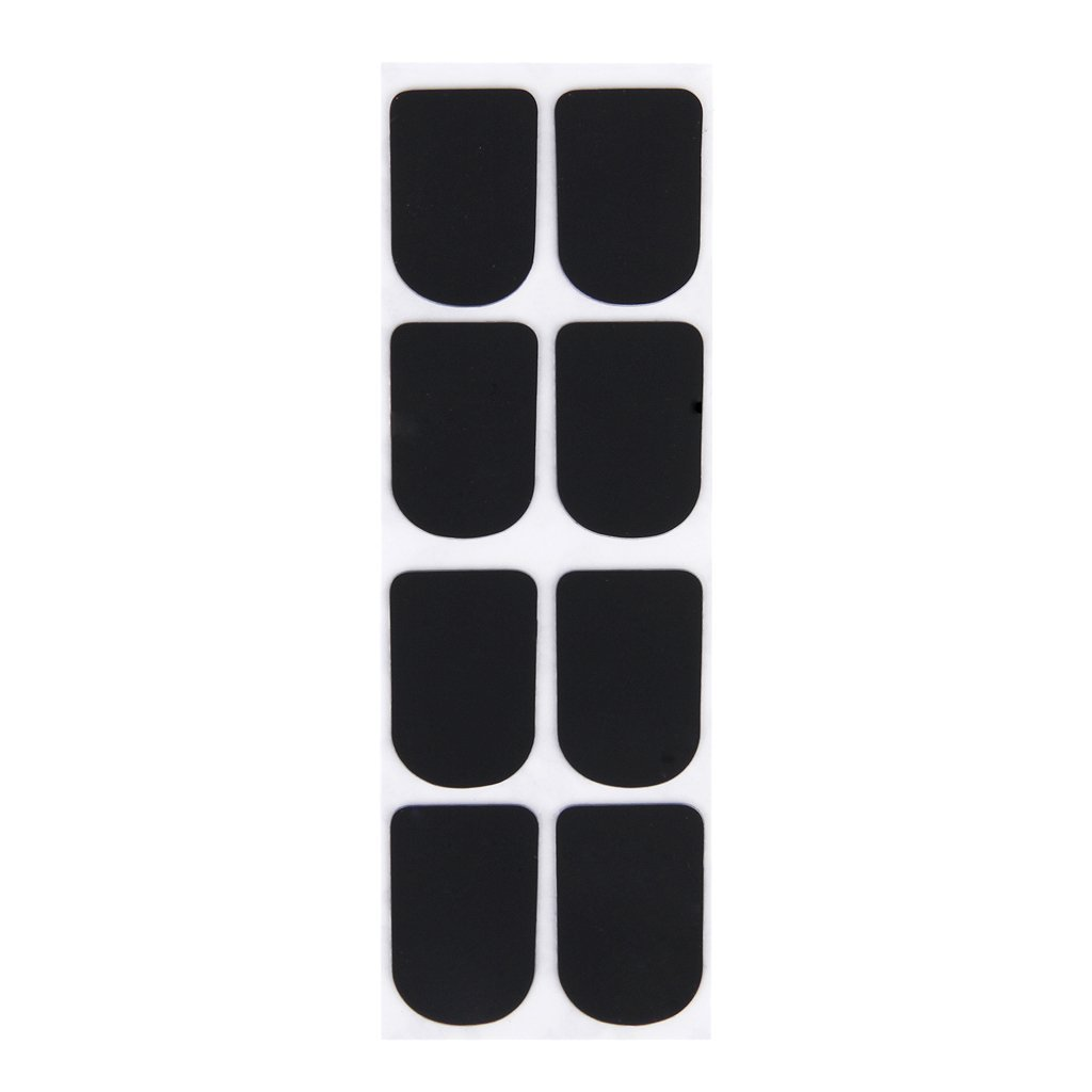 SODIAL(R) 8pcs Clarinet/Soprano Saxophone Sax Mouthpiece Patches Pads Cushions Black---0.8mm 035254