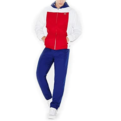 85ee273c23 Lacoste Survetement Te1 Blanc/Bleu/Rouge: Amazon.fr: Vêtements et ...