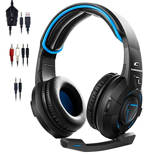 [2018Newest]Gaming Headset for Xbox One(No Adapter Needed)Multi-function Controller for PS4,PS3,Xbox 360,Nintendo Switch,PC,7.1 Surround Sound Headphones with LED Lights and Noise Canceling Microphone For Sale