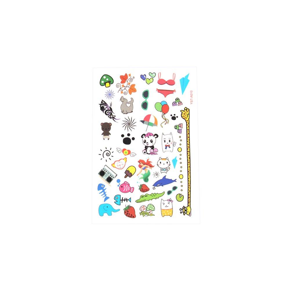 Abwaschbar Avery Zweckform Einwegtattoos 13 Stück Kindertattos für Kinder