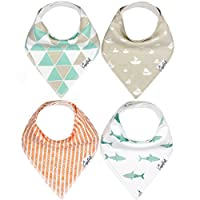 "Baby Bandana Drool Bibs for Drooling and Teething 4 Pack Gift Set For Boys ""P..."