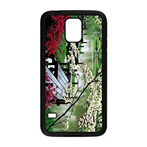 Personalized Clear Phone Case For Samsung Galaxy S5,glam spring parks beauty scene