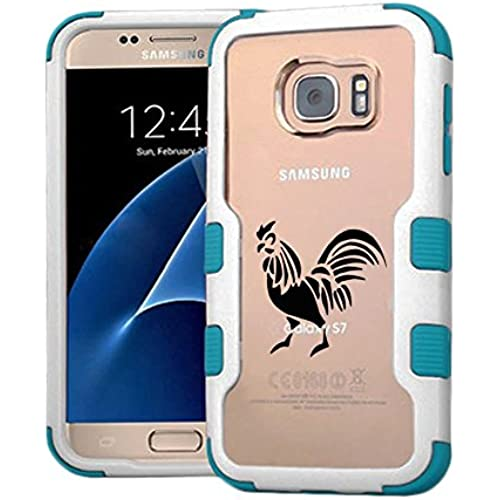 Galaxy S7 Case Rooster, Extra Shock-Absorb Clear back panel + Engineered TPU bumper 3 layer protection for Samsung Sales