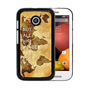 RCGrafix Brand Not All Who Wander Are Lost Motorola Moto E Cell Phone Protective Cover Case - Fits Motorola Moto E