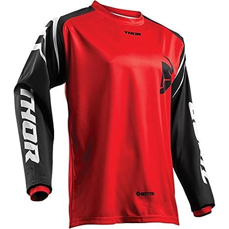Thor Sector Zones Motocross Jersey Shirt Trikot Offroad Enduro Cross Rot S M L XL 2XL 3XL THOR MX 2912-1542-GM
