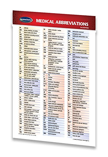 amazon com medical abbreviations guide pocket chart medical